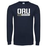 Navy Long Sleeve T Shirt-ORU Basketball Design