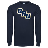 Navy Long Sleeve T Shirt-ORU Stacked