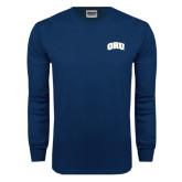 Navy Long Sleeve T Shirt-ORU