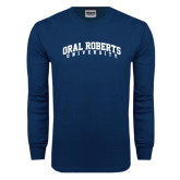 Navy Long Sleeve T Shirt-Arched Oral Roberts University