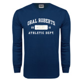 Navy Long Sleeve T Shirt-Golden Eagles Stacked