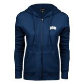 ENZA Ladies Navy Fleece Full Zip Hoodie-ORU