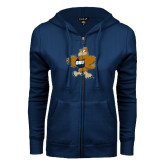 ENZA Ladies Navy Fleece Full Zip Hoodie-Eli