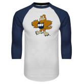 White/Navy Raglan Baseball T-Shirt-Eli