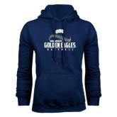 Navy Fleece Hoodie-Golden Eagles Baseball Seams
