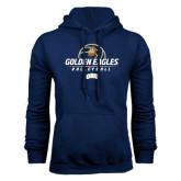 Navy Fleece Hoodie-Golden Eagles Volleyball Stacked