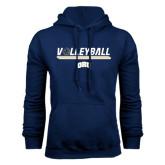 Navy Fleece Hoodie-Volleyball w/ Ball