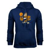 Navy Fleece Hoodie-Basketball Eli