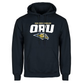 Navy Fleece Hoodie-Stacked Golden Eagles