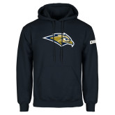 Navy Fleece Hoodie-Golden Eagle Mascot