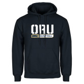 Navy Fleece Hoodie-ORU Basketball Design