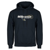 Navy Fleece Hoodie-Volleyball Design