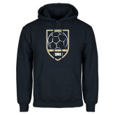 Navy Fleece Hoodie-Soccer Shield Design