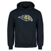 Navy Fleece Hoodie-Eagle Head w/ ORU