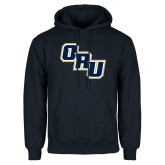 Navy Fleece Hoodie-ORU Stacked