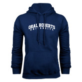 Navy Fleece Hoodie-Arched Oral Roberts University