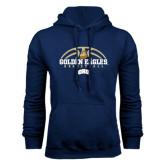 Navy Fleece Hoodie-Golden Eagles Basketball Half Ball