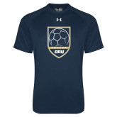 Under Armour Navy Tech Tee-Soccer Shield Design