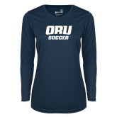 Ladies Syntrel Performance Navy Longsleeve Shirt-Soccer