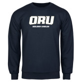 Navy Fleece Crew-ORU Golden Eagles