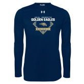 Under Armour Navy Long Sleeve Tech Tee-Baseball Plate Design
