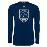 Under Armour Navy Long Sleeve Tech Tee-Soccer Shield Design