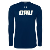 Under Armour Navy Long Sleeve Tech Tee-ORU