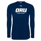 Under Armour Navy Long Sleeve Tech Tee-ORU Golden Eagles