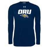 Under Armour Navy Long Sleeve Tech Tee-ORU w Mascot
