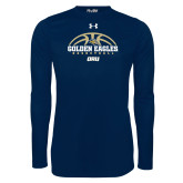 Under Armour Navy Long Sleeve Tech Tee-Basketball Arch Design