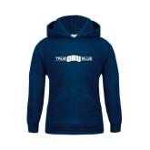Youth Navy Fleece Hoodie-True ORU Blue