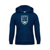 Youth Navy Fleece Hoodie-ORU Soccer Shield