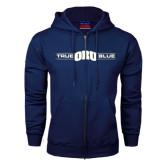 Navy Fleece Full Zip Hoodie-True ORU Blue