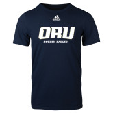 Adidas Navy Logo T Shirt-ORU Golden Eagles
