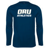 Performance Navy Longsleeve Shirt-Athletics