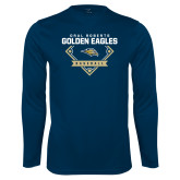 Performance Navy Longsleeve Shirt-Baseball Plate Design