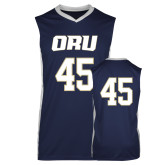 Replica Navy Adult Basketball Jersey-#45