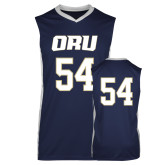 Replica Navy Adult Basketball Jersey-#54