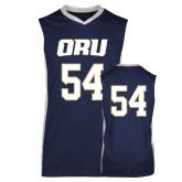 Replica Navy Adult Basketball Jersey-#54