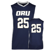 Replica Navy Adult Basketball Jersey-#25