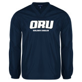 V Neck Navy Raglan Windshirt-ORU Golden Eagles