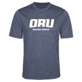Performance Navy Heather Contender Tee-ORU Golden Eagles