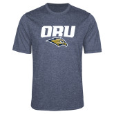 Performance Navy Heather Contender Tee-ORU w Mascot