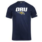 Russell Core Performance Navy Tee-ORU w Mascot