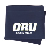 Navy Sweatshirt Blanket-ORU Golden Eagles