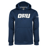 Under Armour Navy Performance Sweats Team Hoodie-ORU
