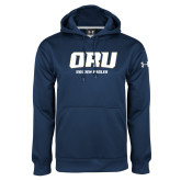 Under Armour Navy Performance Sweats Team Hoodie-ORU Golden Eagles