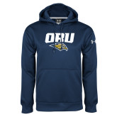 Under Armour Navy Performance Sweats Team Hoodie-ORU w Mascot