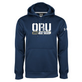 Under Armour Navy Performance Sweats Team Hoodie-ORU Basketball Design
