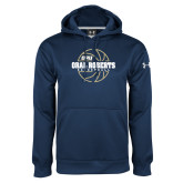 Under Armour Navy Performance Sweats Team Hoodie-Basketball Outline Design